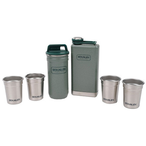 Stanley Adventure Steel Shots + Flask Gift Set Green