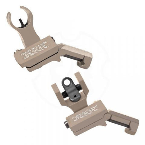 Troy Industries 45 Degree Offset HK/Round Rear Sight Set Flat Dark Earth Flat Dark Earth