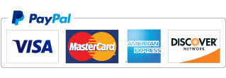 We accept Paypal, Visa, Mastercard, American Express, and Discover