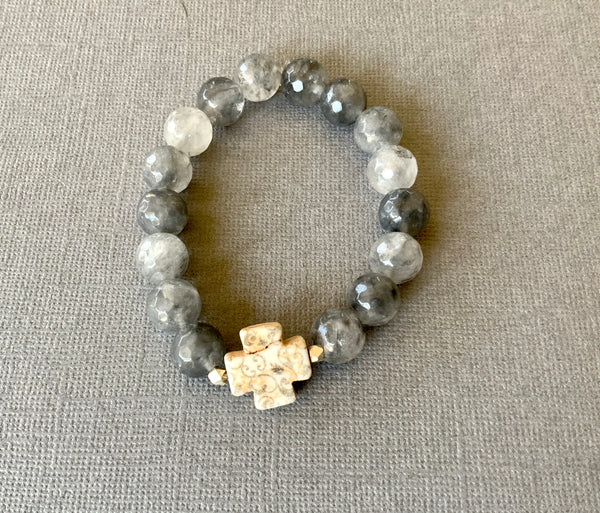THE SJP CROSS  BRACELET
