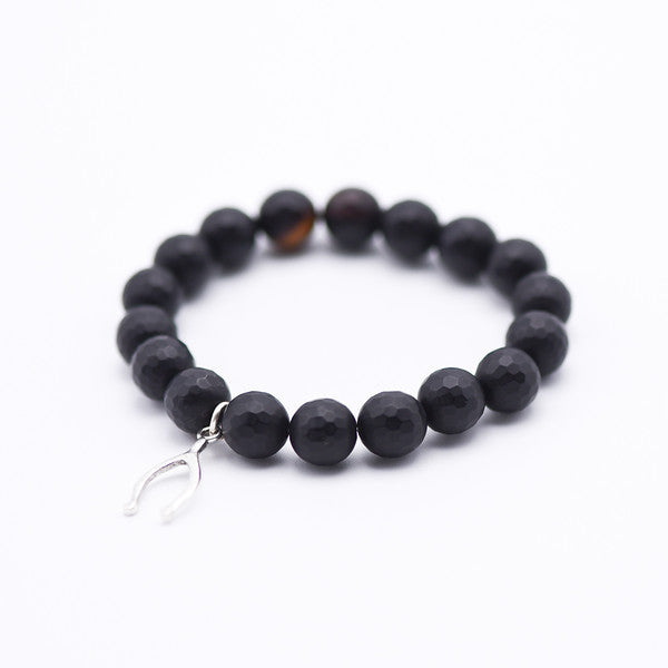 "Wishing for a ""V""  Black Bracelet"