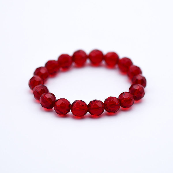 Faceted red crystal bracelet
