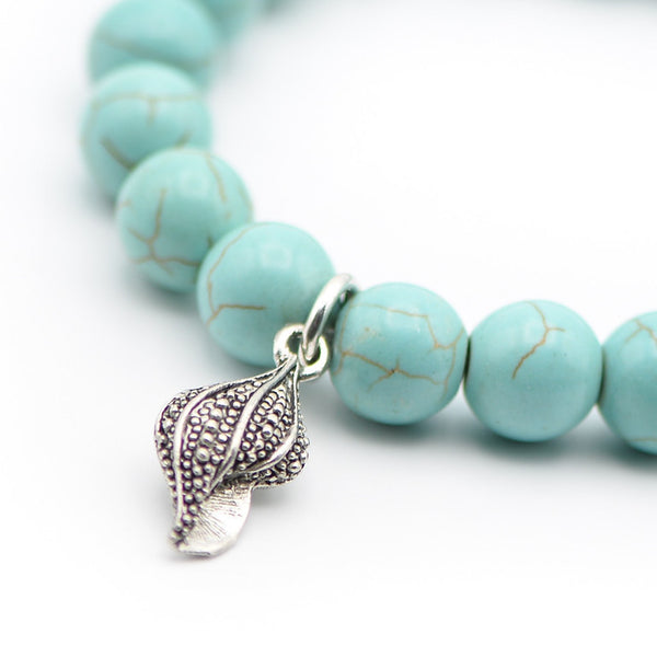 Shell and Turquoise Bracelet Rally Beads