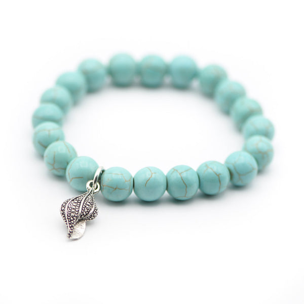 Shell and Turquoise Bracelet