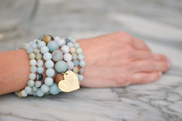 Mixed Amazonite Stackable Bracelets