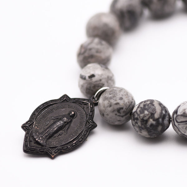 Blessed Mother medal Bracelet