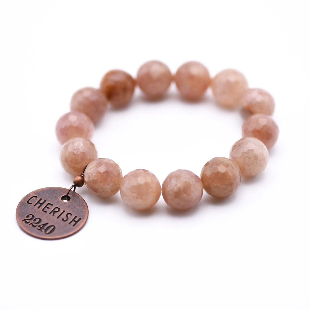Cherish Beaded Bracelet with Rose Quartz Gemstone