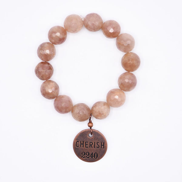 Cherish Bracelet with Rose Quartz Gemstone