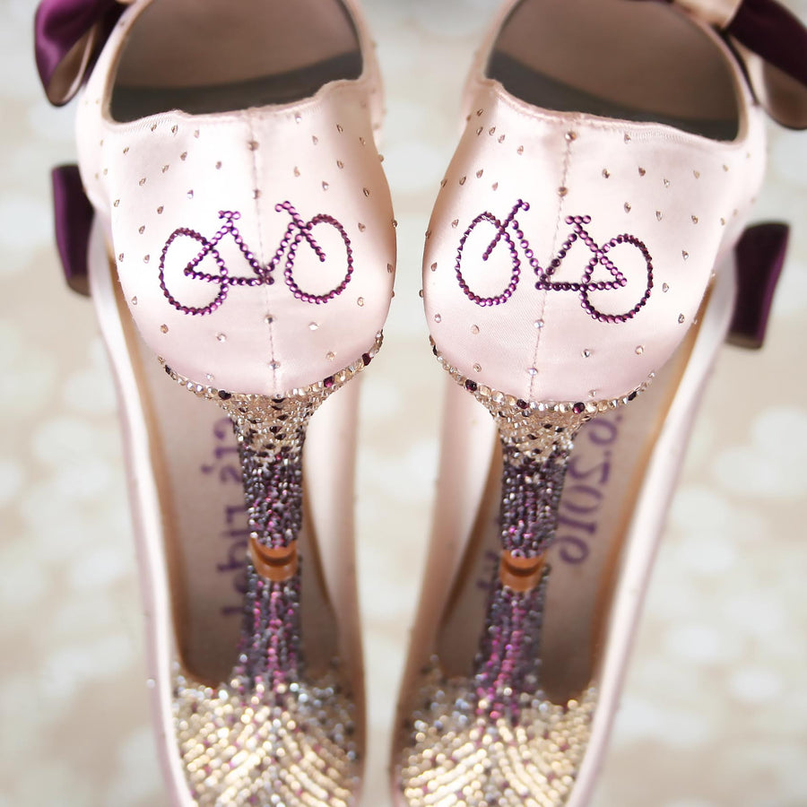 Outside the (Wedding Shoe) Box:  Custom Wedding Shoe Design of the Week