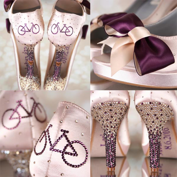 Bicycle Wedding Shoes Biker Wedding Custom Wedding Shoes Photos Ever Angle