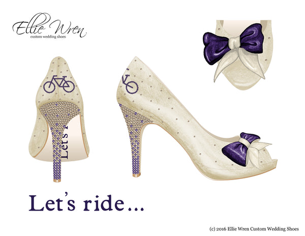 Bike Themed Wedding Shoes Custom Wedding Shoes Biker Wedding Shoes