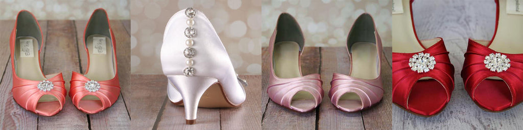 Abby Low Heel Wedding Shoes Bride On A Budget Custom Wedding Shoes Ellie Wren