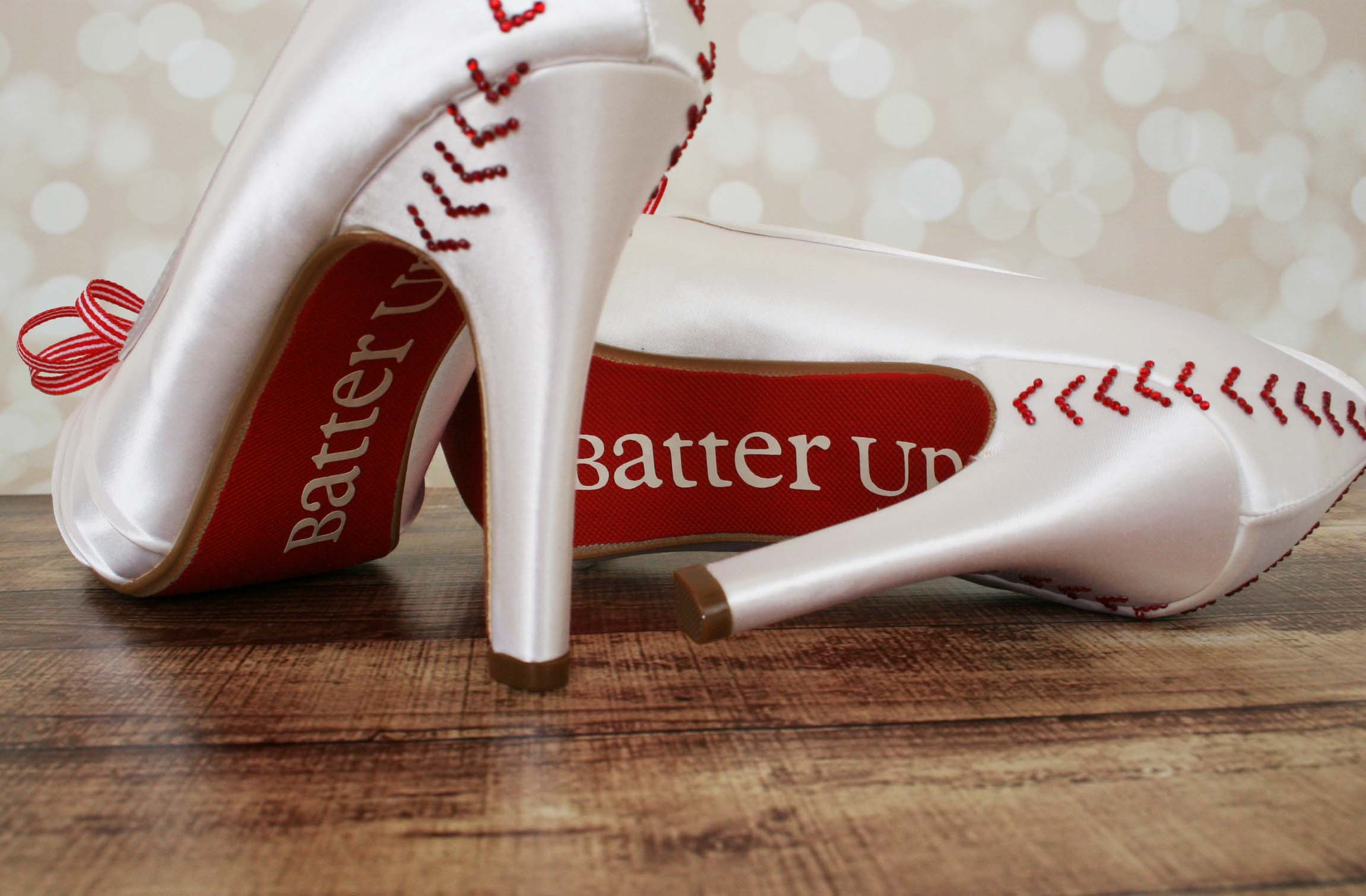 Baseball Wedding Custom Wedding Shoes 3