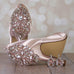Blush Flash Wedding Shoes with Rose Gold Crystal Heel (Color May Be Customized) - Ellie Wren