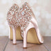 Flash Wedding Shoes with Rose Gold Applique - Ellie Wren