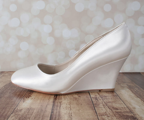 Ivory Chelsia Wedding Shoes by Ellie Wren (Color May Be Customized) - Ellie Wren