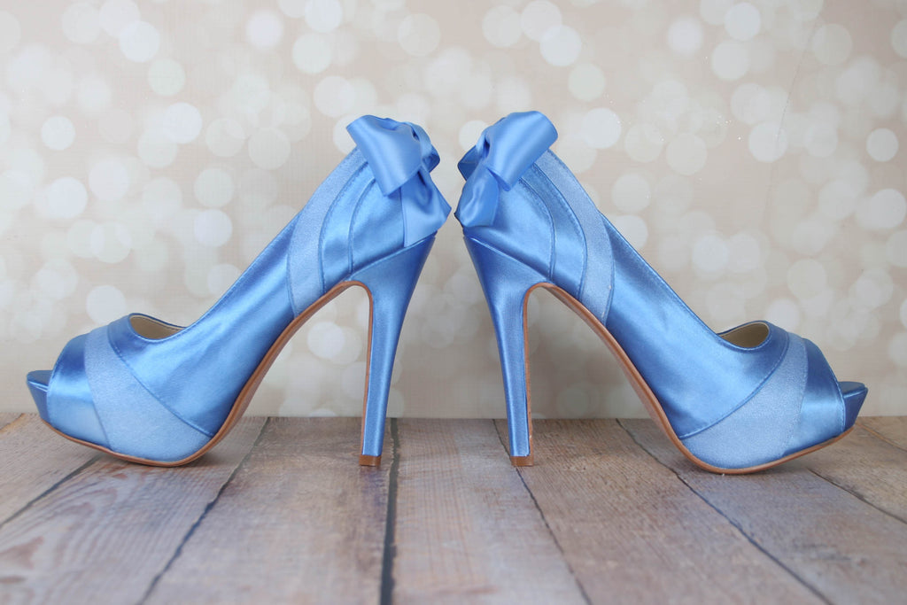 3c05dad46d4 Emmy Wedding Shoes with Matching Bow - Ellie Wren. Images   1   2   3   4    5