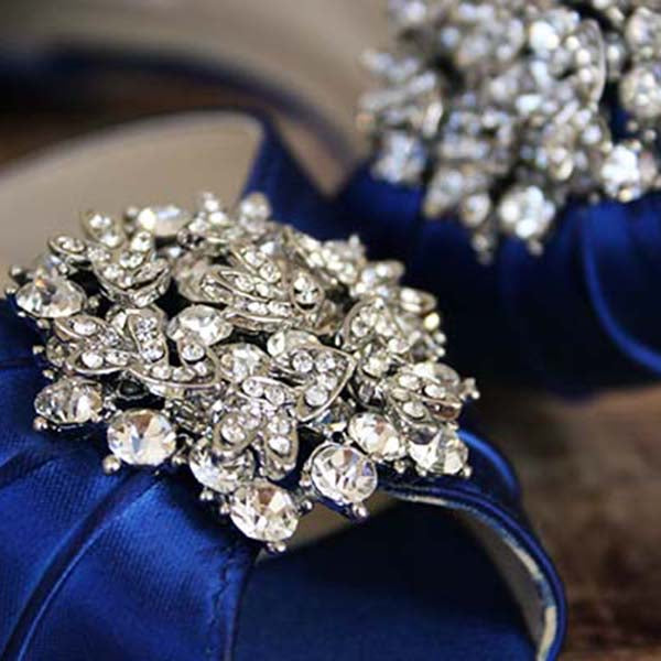 db3afcc8152 Royal Blue Abby Wedding Shoes with Classic Cluster (Color May Be  Customized) - Ellie
