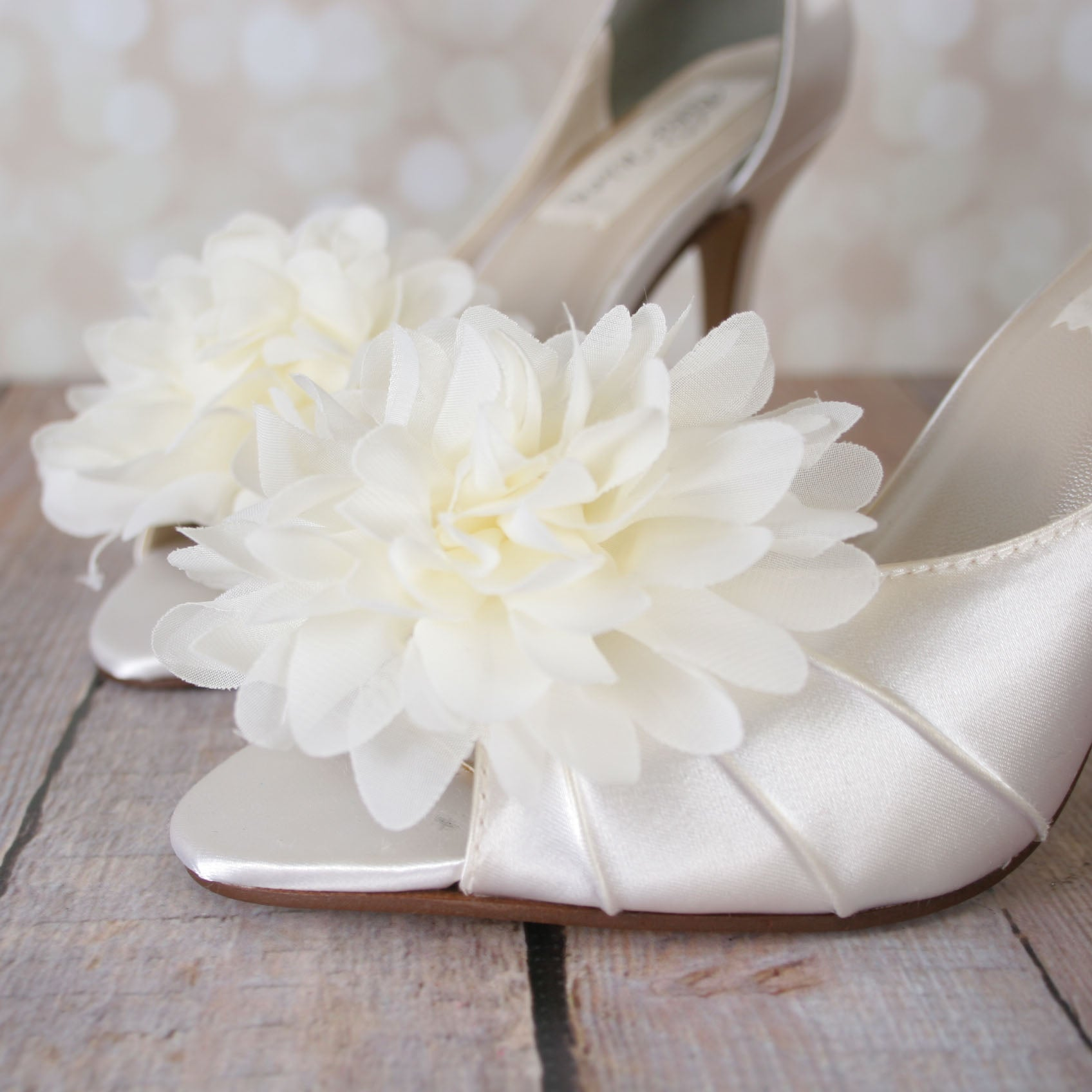 6afcf059bac Flash Wedding Shoes with Puffed Chiffon Flower on Toe – Ellie Wren