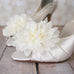 Flash Wedding Shoes with Puffed Chiffon Flower on Toe - Ellie Wren