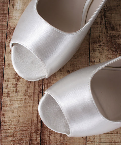 Ivory Sarah Wedding Flats by Ellie Wren (Color May Be Customized) - Ellie Wren