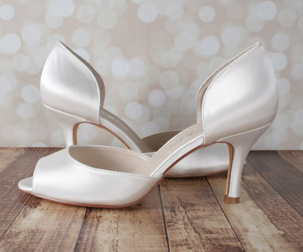 Ivory Kaitlyn Wedding Shoes by Ellie Wren (Color May Be Customized) - Ellie Wren