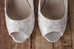 Ivory Katie Wedding Shoes by Ellie Wren (Color May Be Customized) - Ellie Wren