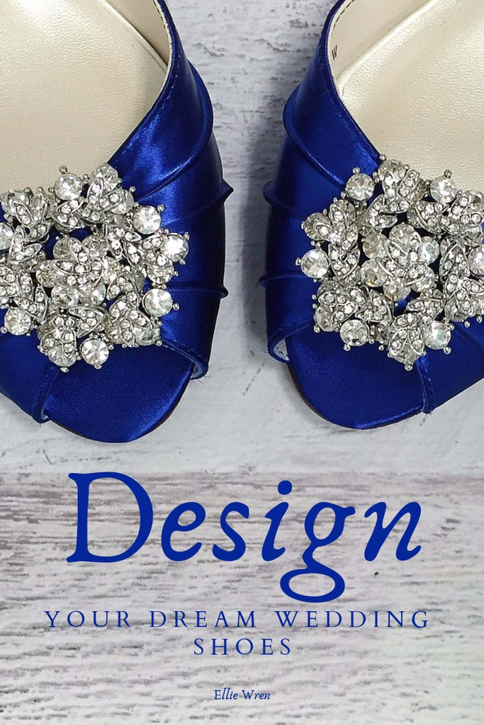 Royal Blue Low Heel Wedding Shoes with