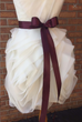 Simple Satin Wedding Dress Sash in Eggplant - Ellie Wren