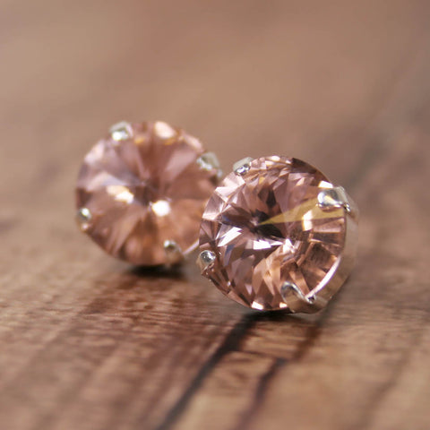 Vintage Rose Swarovski Crystal Earrings - Ellie Wren