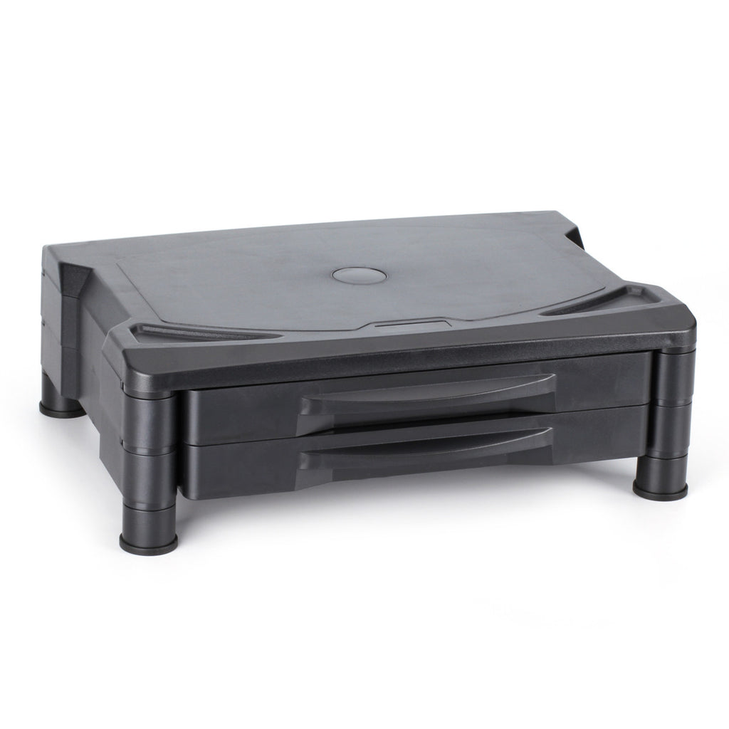 Monitor / Printer Stand Adjustable Risers - 2 Drawers