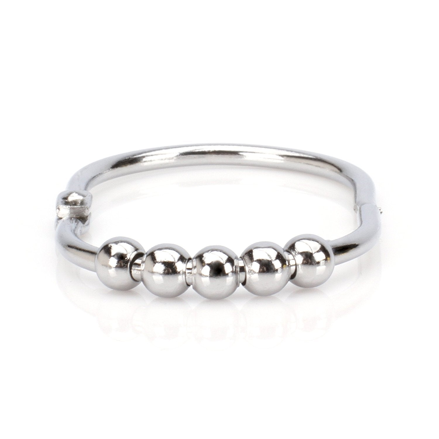 Polished Chrome WIDE Roller Shower Curtain Rings-$40 ORDERS SHIP ...