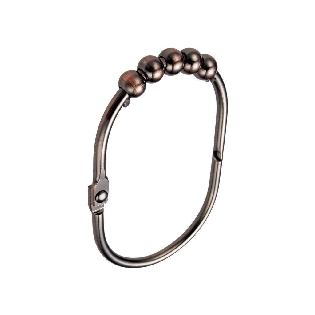 Oil Rubbed Bronze WIDE Roller Shower Curtain Rings