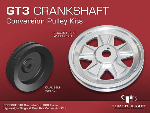 Single Belt Crankshaft Pulley : 930 to GT3 Crank