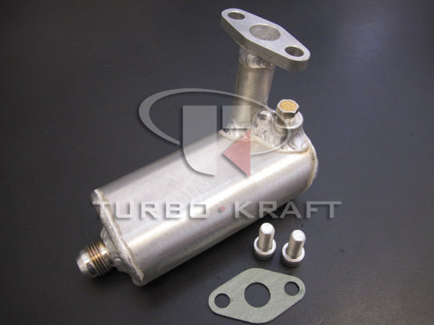TURBO OIL DRAIN ACCUMULATOR - for Garrett ball bearing turbos   [930-512-GTR-TK]