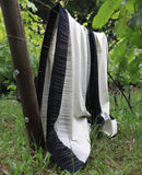 Black & White Ikat Blanket