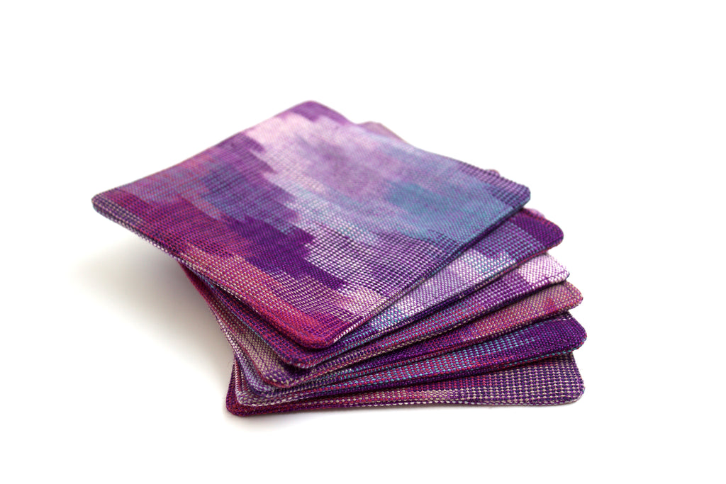 Ikat Diamond Coasters in Beach Vibe - Set of 6