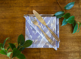 Ikat Chevron Napkins in Waterfall Blues - Set of 4