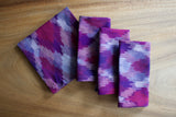 Ikat Diamond Napkins in Royale Purple - Set of 4
