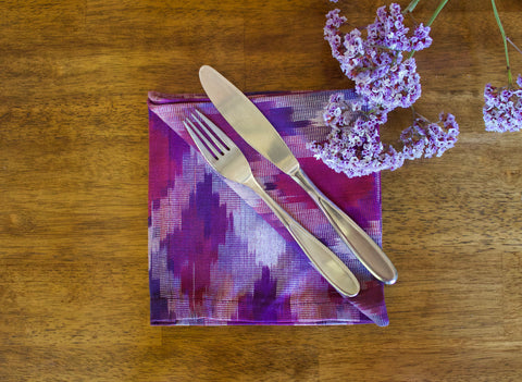 Ikat Diamond Napkins in Beach Vibe - Set of 4