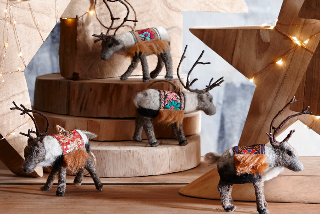 Caribou Christmas Ornaments