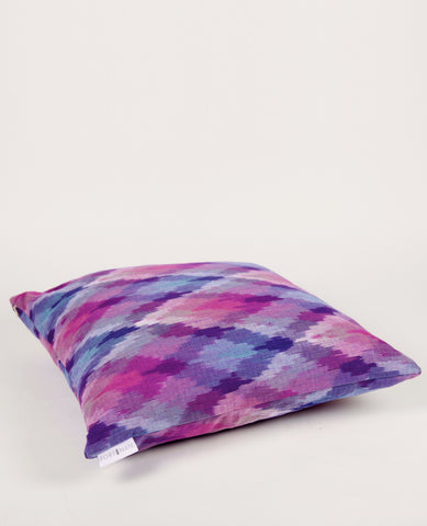 Ikat Diamond Euro Pillow in Royale Purple