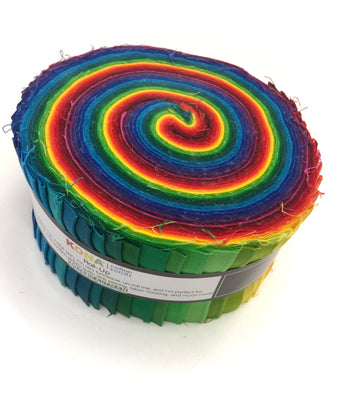 Robert Kaufman Kona Rainbow Jelly Roll Giveaway
