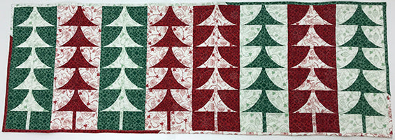Christmas Tree Table Runner Free Pattern And Tutorial Jenny Ms
