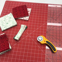 Christmas Tree Table Runner  Cutting Fabric