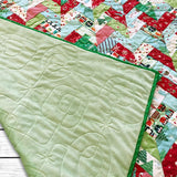 Christmas Braided Lap Quilt