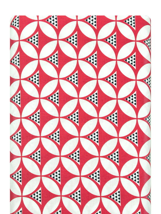 Color Theory Geo Mod Pink Moda Fabric