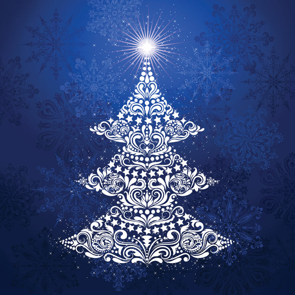 Gradients Holiday Christmas Tree Digital Panel Ice