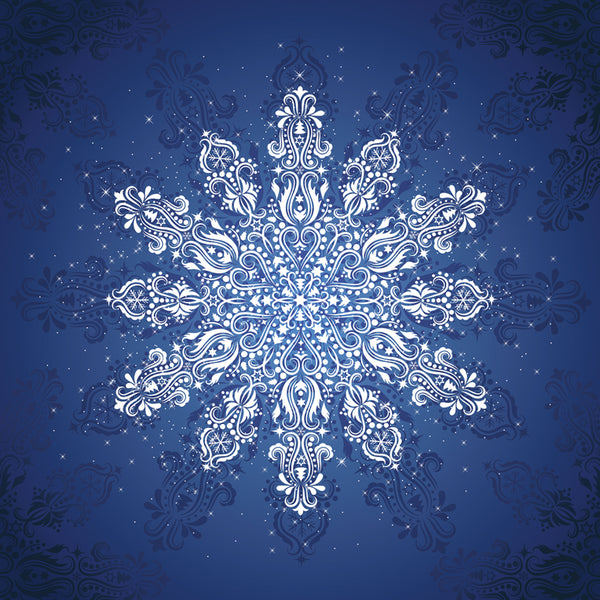 Gradients Holiday Snow Flake Digital Panel