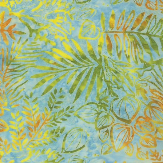 Sun Drenched Batiks Sunset Leaves - 4326 11